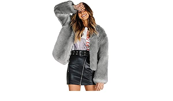Amazon.com: DICPOLIA Womens Plus Size Long Jackets Winter Coats Thicker Sweater Coat Overcoat Outwear (US Size:4, Gray): Clothing