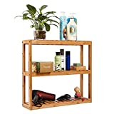 3-Tier Storage Rack Shelf Wall Mounted Bathroom Living Room Kitchen Adjustable Free Standing Multifunctional Utility by Domax