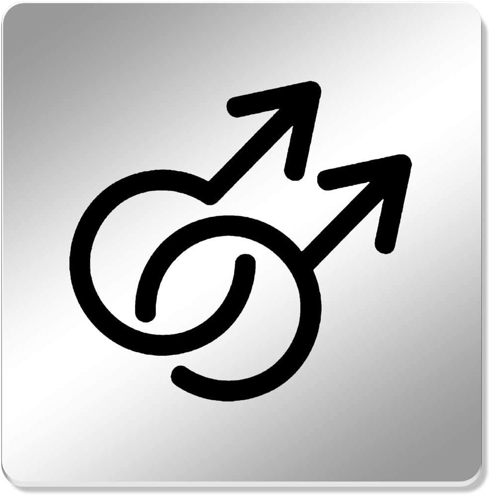 Azeeda 6 x Símbolo Gay Cuadrado Espejo Posavasos (CR00135481 ...