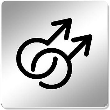 Azeeda 6 x Símbolo Gay Cuadrado Espejo Posavasos ...