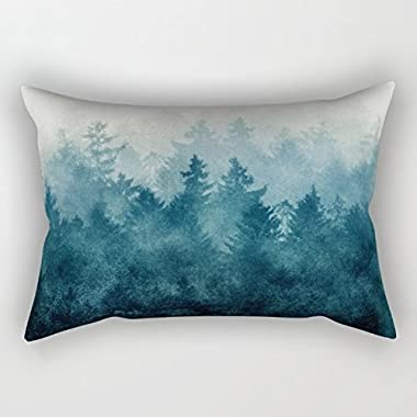 Mountians Forest Throw Pillow Covers 20 X 30 Inches / 50 By 75 Cm For Wedding,play Room,him,husband,home,teens Boys With Two Sides