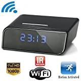 P2P Wifi IP Camera Hidden Camera 1280x720P HD Clock Motion Activated Video Recorder Security DVR for Android IOS...
