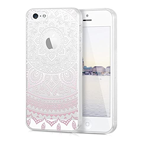 kwmobile Crystal TPU Silicone Case for Apple iPhone SE / 5 / 5S in Design Indian sun light pink white (I Phone 5s Case In Pink)