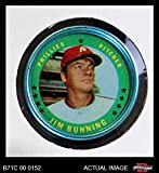 1971 Topps Coins # 3 Jim Bunning Philadelphia Phillies (Baseball Card) Dean's Cards 6 - EX/MT Phillies