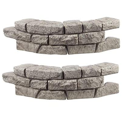 RTS Home Accents Rock Lock Interlocking Border System Curved Section with Spikes, 30-Inch Long, 2-Pack RTS Companies Inc 55060051000081
