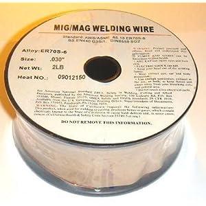 WeldingCity ER70S-6 ER70S6 Mild Steel MIG Welding Wire 2-Lb Spool 0.023″ (0.6mm)