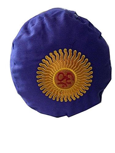 Buckwheat Yoga Bolster, Purple Embroidered: Amazon.es ...