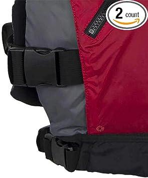 NRS Vapor Adult XX-Large PFD Type III Foam Boating Kayak Life Jacket Vest Red