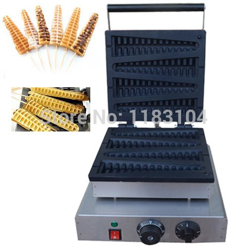 Free Shipping 110v 220v Electric Lolly Waffle on a Stick Bak