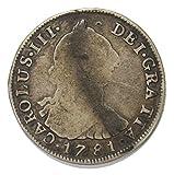 1781 Mexican Carlos III Silver 4 Reales