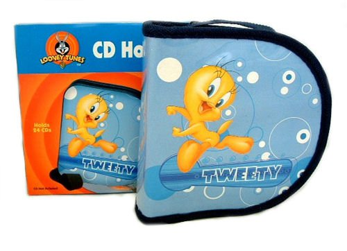 (Looney Tunes CD Holder Tweety Bubbles Blue Style)