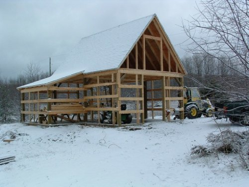 Candlewood Mini-Barn, Shed, Garage and Workshop - Pole Barn Plans by American Wood Pole Barn Plans (Image #4)'