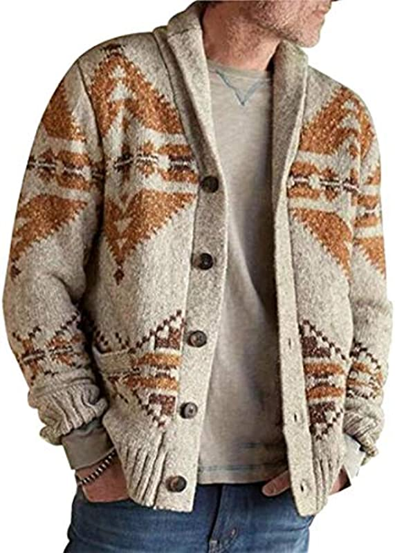 Autumn Men Hooded Wool Cardigan Sweater Jumper Winter Fashion Patchwork Knit Outwear Coat Sweater with Pocket: Odzież