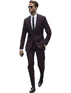 YZHEN Hommes Robe Tuxedo Suit Mariage Formel Slim Fit Élégant Vestes  Pantalons 94d869ad0e2