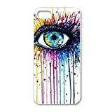 Susenstone®Colorful Retro Big Eyes Painting Hard Skin Case Cover For iPhone 5 5G 5S