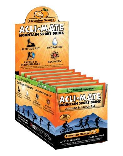 Powder Mountain Ski - Acli-Mate Mountain Sport Drink, Orange, 13.8-Ounce