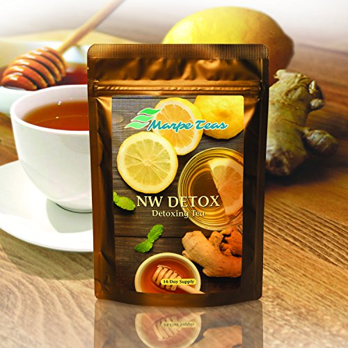 NW Detox Tea 14 Day Supply – Cleanse & Detox Tea | Cleanse Colon & Liver, Improve Digestion, Promote Weight Loss & Boost Energy | IASO Tea | For Men & Women