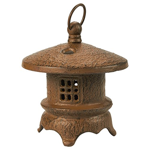 Juvale Rustic Iron Lantern Candle Holder - Vintage Round Candle Centerpiece, Tealight Candle Table Decoration for Living Room, Dining Area, and Garden, Brown, 5.9 x 6 x 5.9 Inches (Iron Tealight Holder)