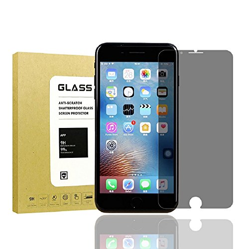 For iPhone 7 Plus/iPhone 8 Plus Privacy Screen protector[2Pack],Lushim[9H Hardness][3D Touch][Bubble Free] Easy Install Tempered Glass Anti-Spy Screen Protector Shield For iPhone 7Plus/iPhone - Screen Free Shield