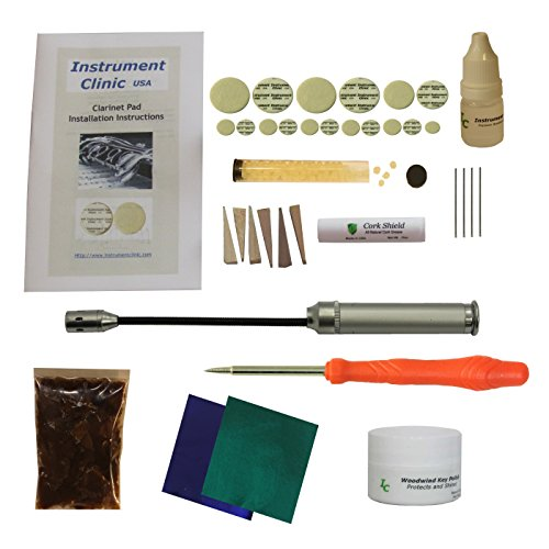 Instrument Clinic Clarinet Pad Kit, with Instructions, for Bundy Clarinets