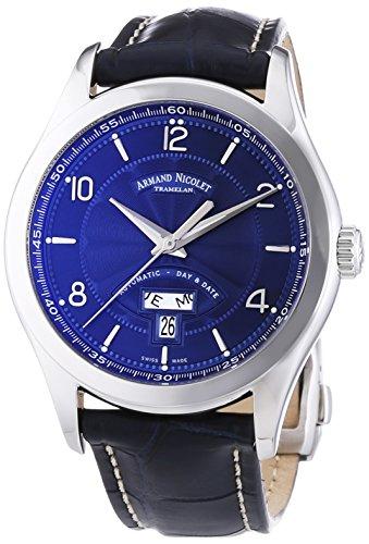 Armand Nicolet Men's 9740A-BU-P974BU2 M02 Analog Display Swiss Automatic Blue Watch