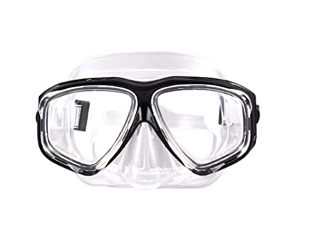 ffc34052202 ShuoBeiter Diving Mask Dive Snorkel Nearsighted Prescription RX Optical  Corrective Lenses Customized (Black-1