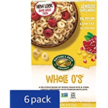Nature's Path Organic Gluten-Free Cereal, Whole O's, 11.5 Ounce Box (Pack of 6)