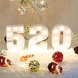 Decorative Led Light Up Number Letters Alphabet