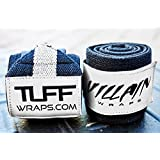"Villain Wrist Wraps 30"" for Powerlifting, Weightlifting, Strongman Training, Crossfit - (Black/White, 30 Inches) (Black/White, 30)"