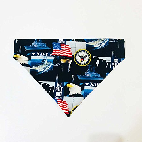 Armed Forces Military Navy Dog Bandana No-Tie by Barking Bad Bakery and Boutique