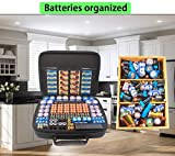 Large Battery Organizer Case with Battery Tester