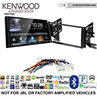 Volunteer Audio Kenwood DMX7704S Double Din Radio Install Kit with Apple CarPlay Android Auto Bluetooth Fits 2007-2014 Non Amplified Toyota FJ Cruiser