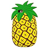 Pineapple iPhone 7Plus Case,Awin Vivid 3D Summer Fruit Pineapple Soft Rubber Silicone Phone Case (Pineapple)