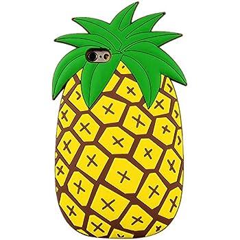 cute pineapple clipart. iphone se case, mc fashion cute vivid 3d summer fruit pineapple soft silicone phone case clipart