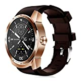 WTGJZN K98H 3G GPS WiFi Smart Watch Android 4.1 Support SIM Heart Rate Tracker 1.2GHz 4GB ROM Waterproof Bluetooth Smart Watch,Golden