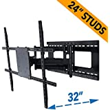 Full Motion TV Wall Mount for 42-80 inch TVs with Room Adapt Extends 32, Mounts on 16 or 24 inch studs - Aeon 45250