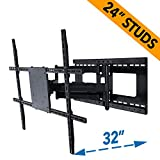 Full Motion TV Wall Mount for 42-80 inch TVs with Room Adapt Extends 32'', Mounts on 16 or 24 inch studs - Aeon 45250