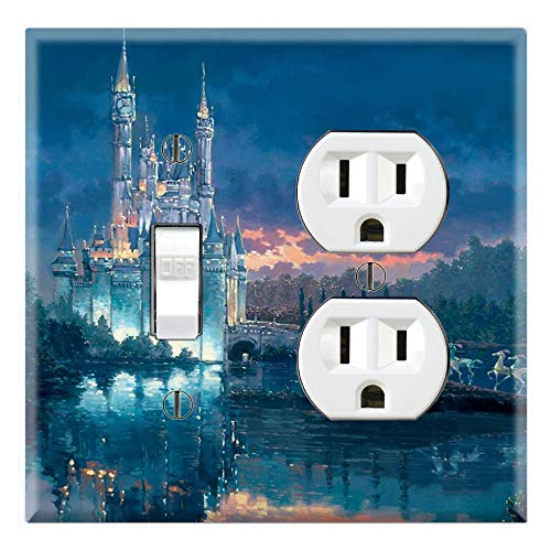 Outlet Lake (Graphics Wallplates - Castle Lake Art - Toggle Outlet Combo Wall Plate Cover)