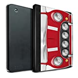 STUFF4 PU Leather Book/Cover Case for Apple iPad 2/3/4 tablets / Solar Red Design / Classic Retro Mini Collection