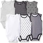 Amazon Essentials Baby 6-Pack Sleeveless Bodysuits