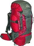 Highlander Outdoor Discovery 65-Liter Rucksack, Red