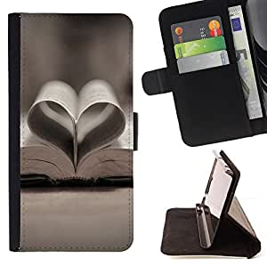 Jordan Colourful Shop - Love Book Love For Sony Xperia T3 / M50W - Leather Cover Case High Impact Absorption Case -