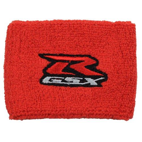 Suzuki GSXR Red Brake Reservoir Sock Cover Fits GSXR, GSX-R, 600, 750, 1500, 1300, Hayabusa, Katana, TL 1500, SV 650 (Motorcycle Break Reservoir)