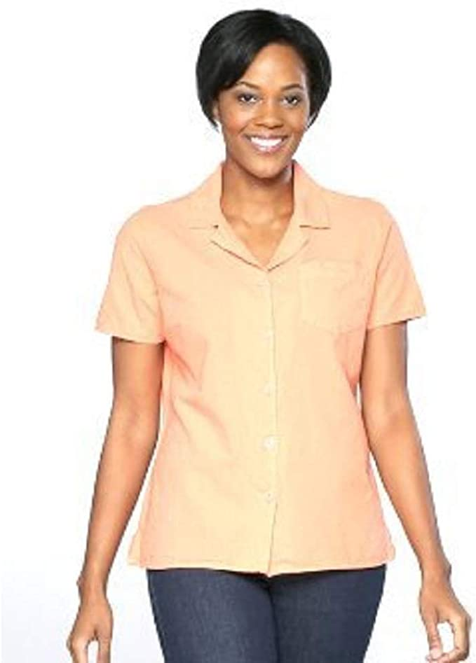 BASIC EDITIONS Girls Women Casual Loose Black Plain T-Shirt Sz L