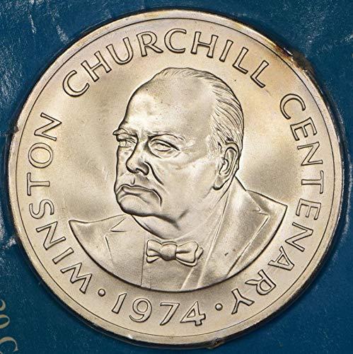 1974 TC Churchill Commemorative Twenty Crown Unc