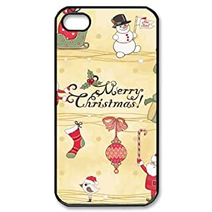 Iphone 4,4S 2D Custom Phone Back Case with Christmas gifts Image