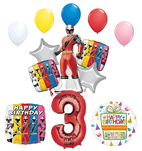 The Ultimate Power Rangers Ninja Steel 3rd Birthday Party Supplies and Balloon Decorations -