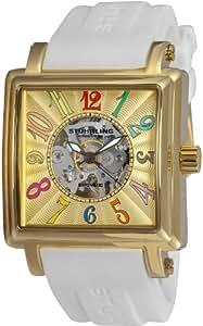 Stuhrling Original Women's 149GL.123P31 Vogue Ozzie Sport Automatic Skeleton Gold-Tone Dial Watch Set