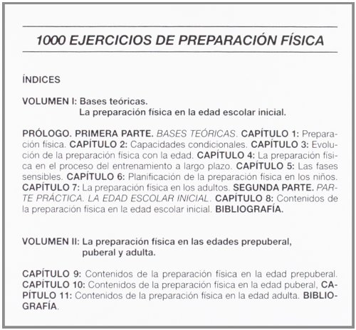 1000 Ejercicios de Preparacion Fisica - 2 Tomos. (Spanish Edition): Alfonso Blanco Nespereira: 9788480191821: Amazon.com: Books