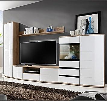 muebles bonitos mueble de saln cartago color sanremo con blanco